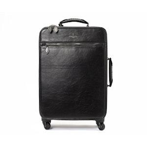 Black Calf Leather Trolley Case