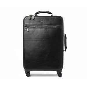 Black Calf Leather Trolley Case