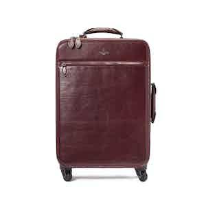 Bordeaux Calf Leather Trolley Case