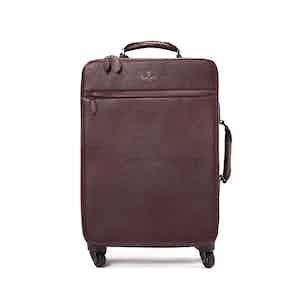 Bordeaux Deerskin Leather Trolley Case