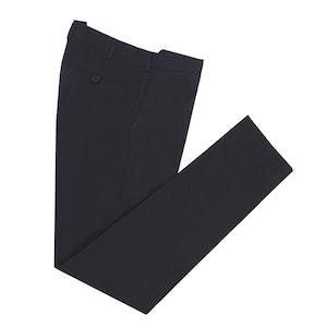 Black Straight Leg Cotton Trousers