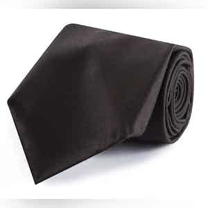 Brown Wool 10-Fold Tie