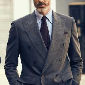 Angelo Inglese For RTG Light Blue Vintage Oxford Button Down Shirt