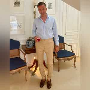 AK MC Camel Cotton Riviera Trousers