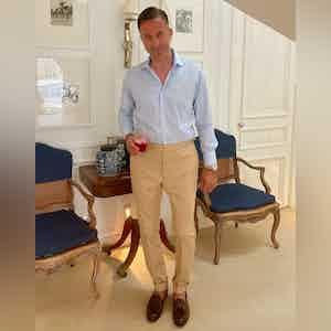 AK MC Camel Cotton Riviera Trousers