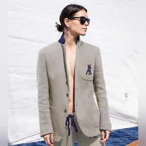 AK MC Cotton Unstructured Ladies Tennis Blazer Grey