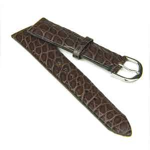 Dark Brown Classic Alligator Watch Strap