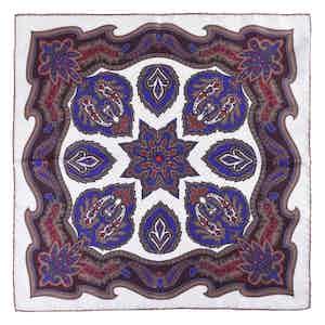 Brown Vanilla Chianti Silk Pocket Square