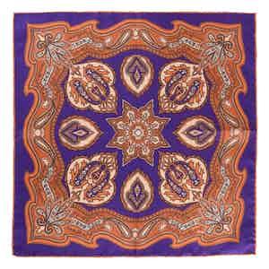 Orange Violet Chianti Silk Pocket Square
