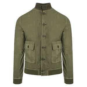 Valstarino Wasabi Green Cotton A1 Bomber Jacket
