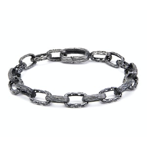 Oxidised Silver Warrior Bracelet