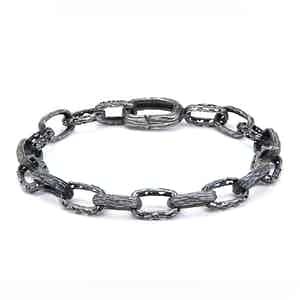 Oxidised Silver Warrior Bracelet