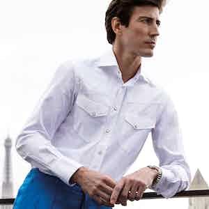White Cotton Western Sport Shirt