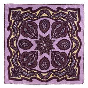 Purple Wild Strawberry Silk Pocket Square