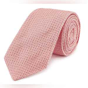 Pink Grenadine Weave Silk Tie