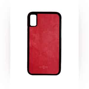 Red Nappa Leather iPhone X Case