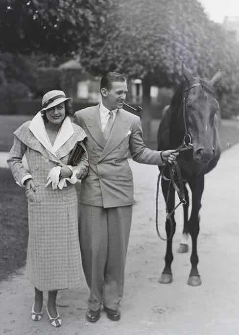 Fairbanks Jr with Joan Crawford in Chantilly in 1932.