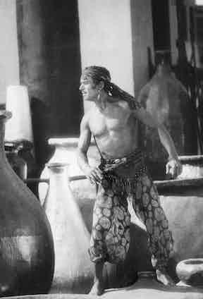 Fairbanks Sr in 'The Thief of Bagdad' in 1924.