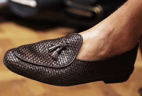 'Luca introduced me to loafers' says Mariano. 'They're very comfortable, young and elegant - even with a tuxedo - I love them!'