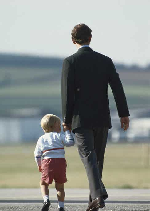 Prince Charles with William.