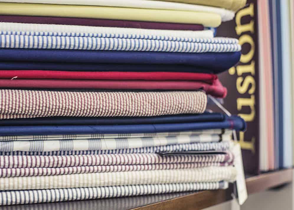 Ambrosi seersucker and linen fabric options