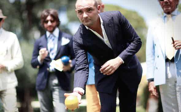 Splendour in the Grass: Bocce Ball at Pitti Uomo