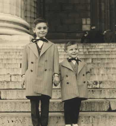 Marc and his elder brother Frederic wearing Camps De Luca at ages seven and three respectively.