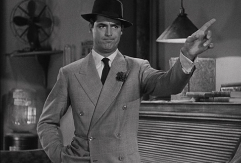 Cary Grant's substantial lapels circa 1940 demonstrate their enduring appeal.