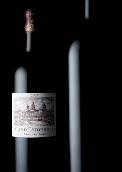 A bottle of 2003 Cos d'Estournel