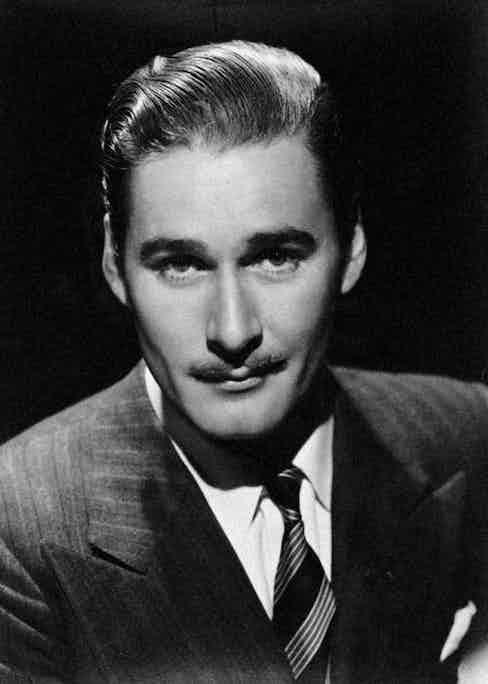 Dapper 'Tasmanian devil' Errol Flynn, circa 1940.