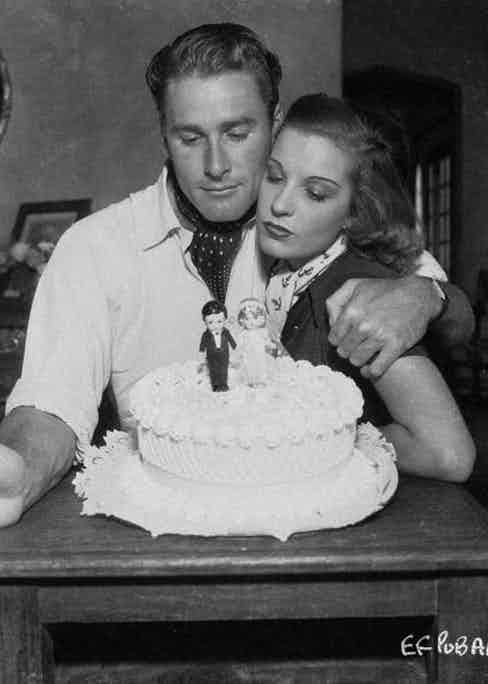 Flynn and his first wife, the lovely Lili Damita.