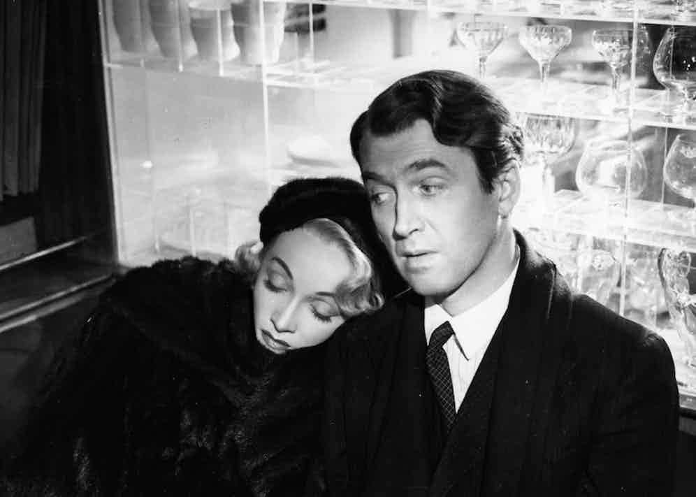 Dietrich with James Stewart in the film No Highway in the Sky.