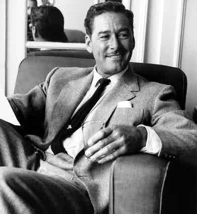 Flynn photographed in London in 1952.