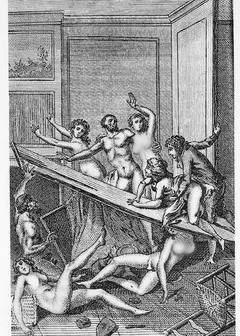 illustration from 'Histoire de Juliette' by the Marquis de Sade, 1797