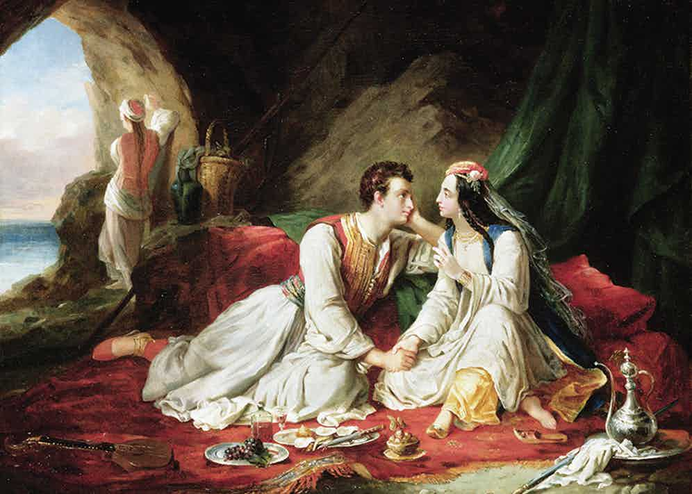 Byron as Don Juan, with Haidee, 1831