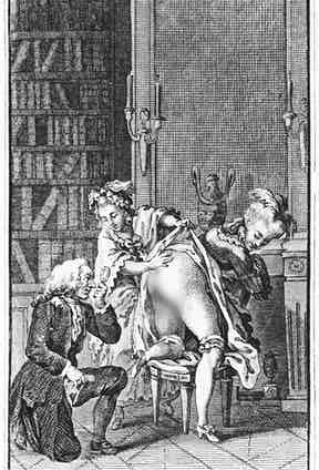 Illustration from works by the Marquis de Sade (1740-1814)