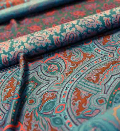 Drakes's signature hand-screen printed silk foulards.