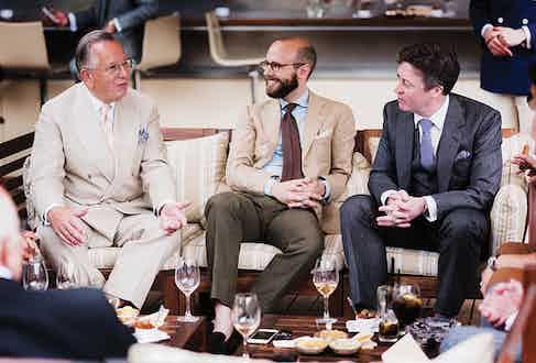 John Hitchcock, Simon Crompton and Richard Anderson mid-discussion.