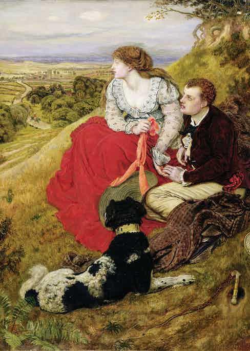 Byron's Dream, 1874 (oil on canvas)