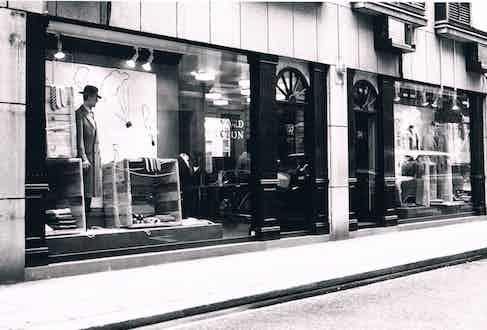 The Sexton Savile Row storefront.