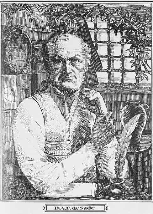 The Marquis de Sade (1740-1814) in Prison (engraving)