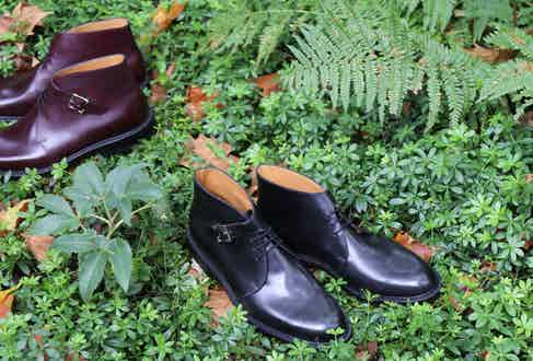 John Lobb's Combe boot is available in a range of colours, including Bordeaux and black leather.