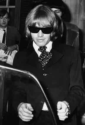Brian Jones leaves West London Magistrates Court, after appearing on charges of unlawful possession of drugs.