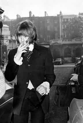 Brian Jones arrives at court on a drugs charge.