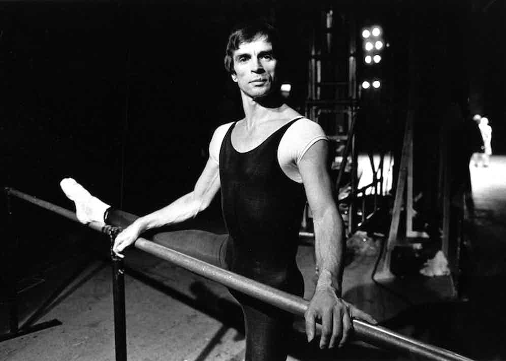 Rudolf Nureyev during rehearsal of 'Romeo and Juliet' at the London Coliseum.