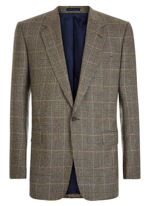 The second of Huntsman's distinguished guncheck sports coats for AW15.