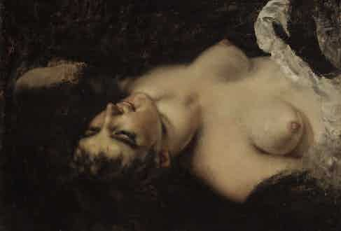 Gustave Courbet's Femme nue.