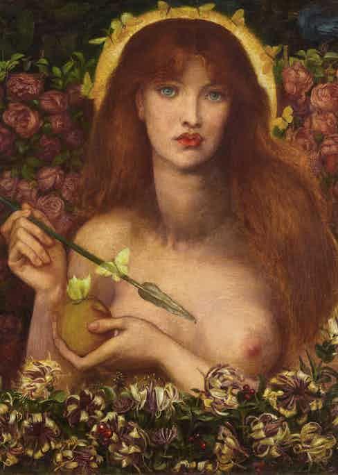 Dante Gabriel Rossetti's Venus Verticordia.