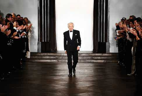 He may have thrown in jeans and kicks into his CFDA outfit, but Ralph Lauren can also pull off classic evening wear better than anyone.