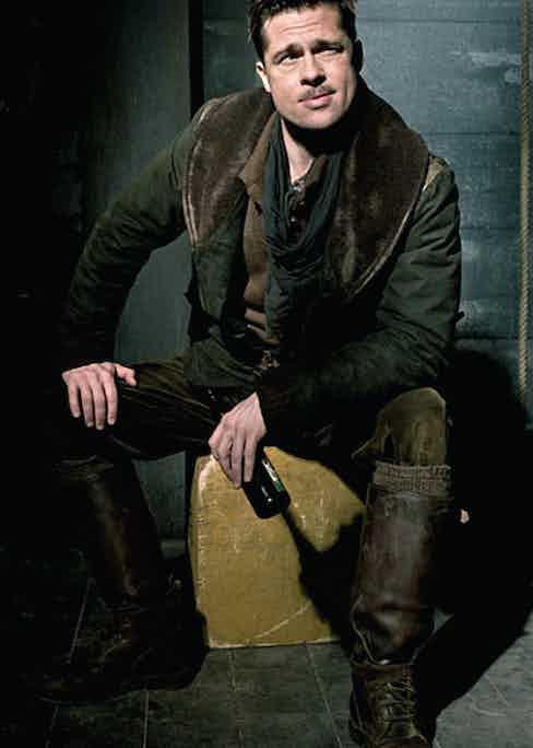 Brad Pitt as Lieutenant Aldo Raine in 'Inglorious Basterds', wearing his legendary Ludwig Reiter Husaren boots.